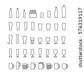 beer bottles and glasses... | Shutterstock . vector #576319117