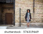 cold day  exposed brick | Shutterstock . vector #576319669