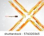abstract orange lines in x... | Shutterstock .eps vector #576320365