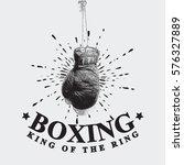 vintage boxing gloves vector...   Shutterstock .eps vector #576327889