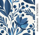 seamless watercolor floral... | Shutterstock . vector #576328051