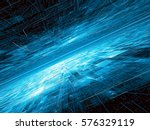 technology surface with chaos... | Shutterstock . vector #576329119