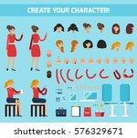 colored female character... | Shutterstock .eps vector #576329671