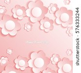 pink abstract background with... | Shutterstock .eps vector #576333244
