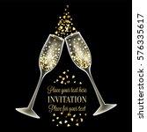 luxury wedding invitation card... | Shutterstock .eps vector #576335617