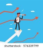 man looking a head for new... | Shutterstock .eps vector #576339799