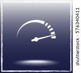 speedometer sign icon  vector... | Shutterstock .eps vector #576340411