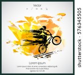 sport poster with bmx rider | Shutterstock .eps vector #576345505