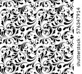 floral seamless pattern. sample ... | Shutterstock .eps vector #576347914