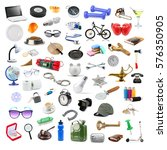 60 different isolated objects.... | Shutterstock . vector #576350905