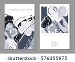 set of artistic creative... | Shutterstock . vector #576355975