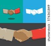 handshake icon. white icon...
