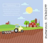 farming illustration poster in... | Shutterstock .eps vector #576363199