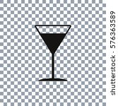 cocktail glass vector icon.... | Shutterstock .eps vector #576363589