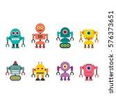 robot character vector... | Shutterstock .eps vector #576373651