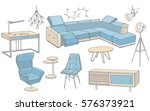 vector sketch of a set of... | Shutterstock .eps vector #576373921