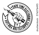 logo for vape shop vector... | Shutterstock .eps vector #576376495