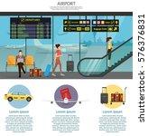 airport passenger terminal and... | Shutterstock .eps vector #576376831
