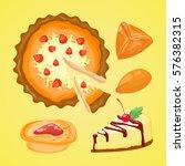 homemade organic pie dessert... | Shutterstock .eps vector #576382315