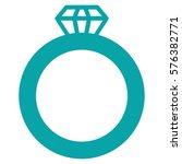 gem ring vector icon symbol.... | Shutterstock .eps vector #576382771