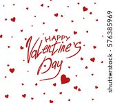 card happy valentine's day. lot ... | Shutterstock .eps vector #576385969