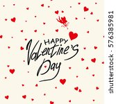 card for happy valentine's day... | Shutterstock .eps vector #576385981