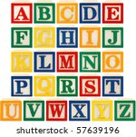 same view 26 letters of... | Shutterstock . vector #57639196