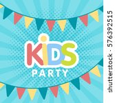 kids party letter sign poster...