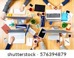 interacting as team for better... | Shutterstock . vector #576394879