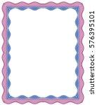 vector frame for diploma or... | Shutterstock .eps vector #576395101