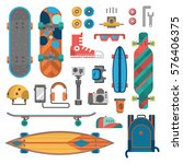 skateboard fingerboard icon... | Shutterstock .eps vector #576406375