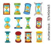 sand clocks vector isolated. | Shutterstock .eps vector #576406465