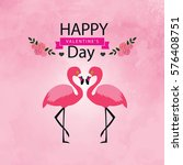 card for valentine's day with...   Shutterstock .eps vector #576408751