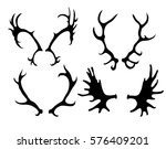 set of silhouettes of deer and... | Shutterstock .eps vector #576409201