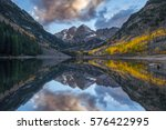 Maroon Bells and the reflection cloud