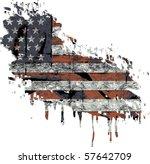 american flag | Shutterstock .eps vector #57642709