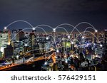 network connected city concept
