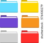 folder icon set colors isolated ...   Shutterstock .eps vector #576430279