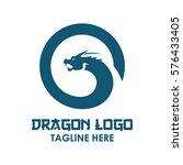 dragon  monster snake logo... | Shutterstock .eps vector #576433405
