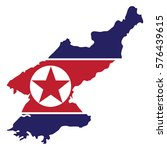 noth korea map and flag vector | Shutterstock .eps vector #576439615