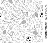 sport equipment seamless pattern | Shutterstock .eps vector #576440071