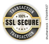 gold ssl transaction badge  ... | Shutterstock .eps vector #576449437