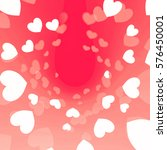 valentine background with... | Shutterstock . vector #576450001