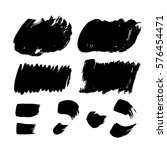 set of black paint  ink  grunge ... | Shutterstock .eps vector #576454471