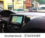 navigation system in car   Shutterstock . vector #576454489