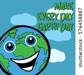earth day illustration vector... | Shutterstock .eps vector #576458887