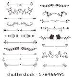 vector dividers calligraphic... | Shutterstock .eps vector #576466495