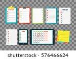 agenda list concept vector... | Shutterstock .eps vector #576466624