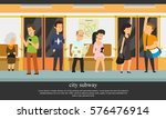 people go to the subway. vector ... | Shutterstock .eps vector #576476914