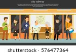people go to the subway. vector ... | Shutterstock .eps vector #576477364